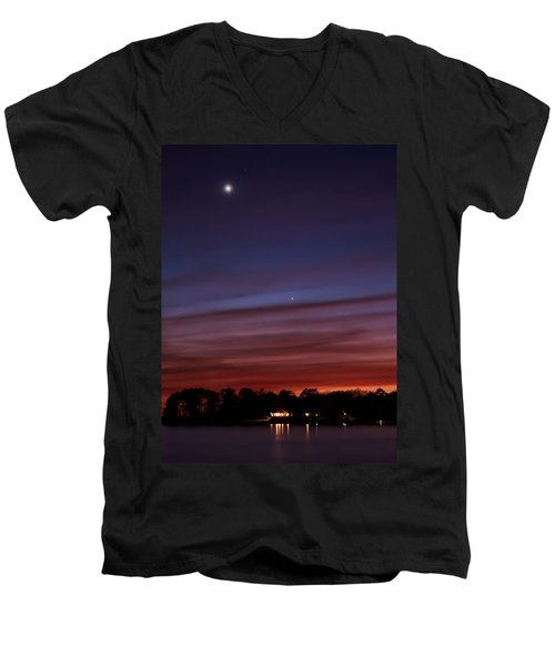 Venus And Mercury Men's V-Neck T-Shirt