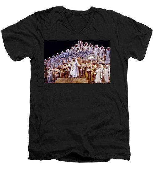 Verdi Aida Men's V-Neck T-Shirt by Shaun Higson