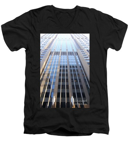 Vertical Chicago By Jammer Men's V-Neck T-Shirt