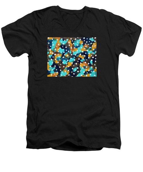 Vertigo Men's V-Neck T-Shirt by Donna  Manaraze