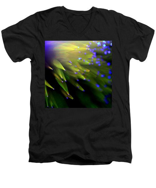 Men's V-Neck T-Shirt featuring the photograph Very Superstitious by Dazzle Zazz