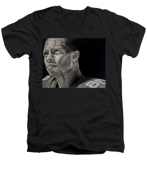 Victor Cruz Drawing Men's V-Neck T-Shirt