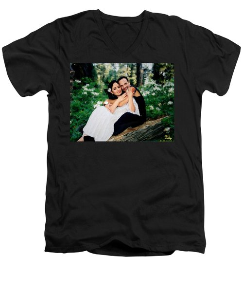 Victoria And Her Man Of God Men's V-Neck T-Shirt by Bruce Nutting