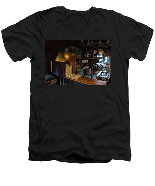 Victorian Candle Factory Men's V-Neck T-Shirt