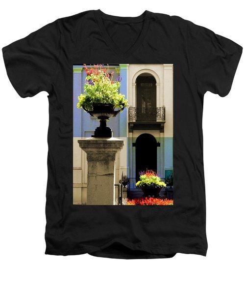 Victorian House Flowers Men's V-Neck T-Shirt