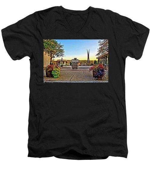 Victorii Rebuild - A 911 Memorial Men's V-Neck T-Shirt