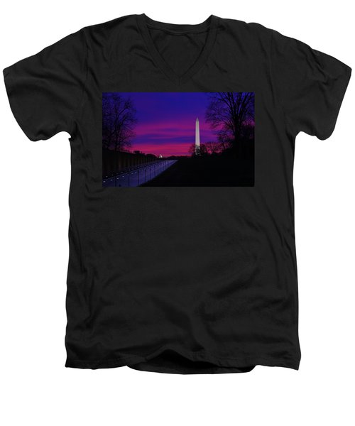 Vietnam Memorial Sunrise Men's V-Neck T-Shirt