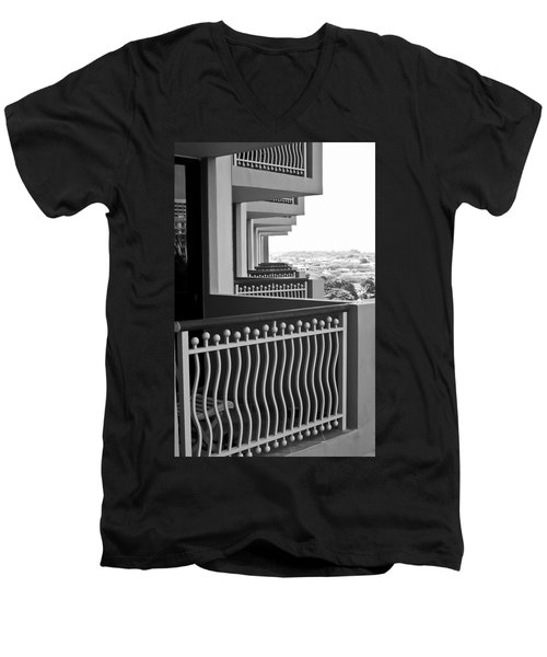 View From The Hotel Balcony Men's V-Neck T-Shirt
