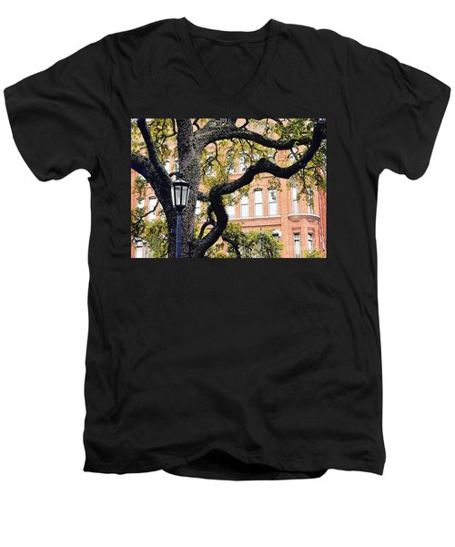 View From The Square Men's V-Neck T-Shirt by Lydia Holly