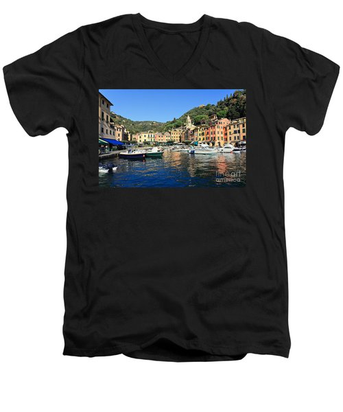 view in Portofino Men's V-Neck T-Shirt by Antonio Scarpi