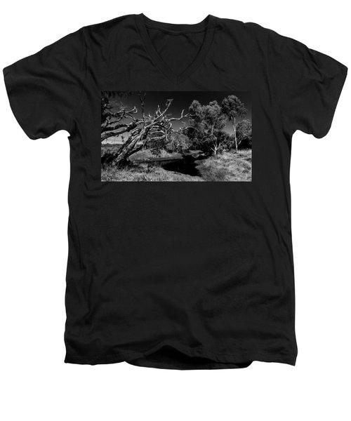 View Over North Lake Men's V-Neck T-Shirt