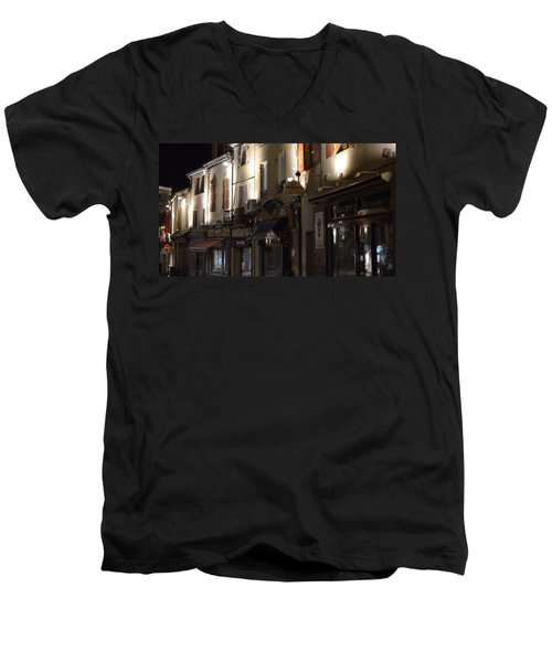 Village Nightscape Men's V-Neck T-Shirt