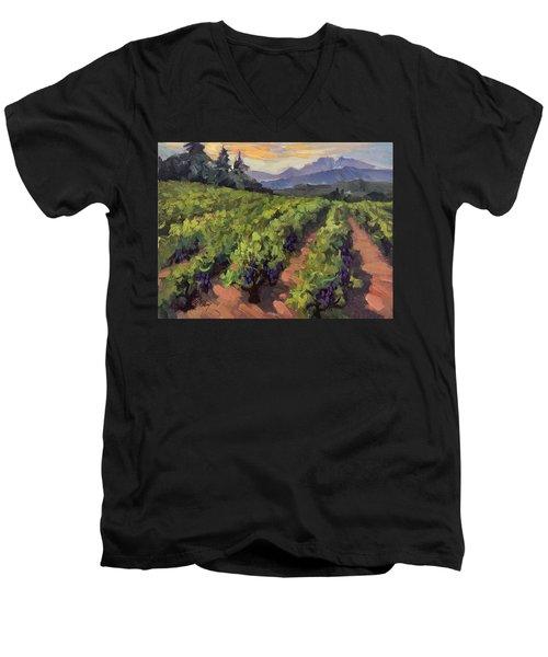 Vineyard At Dentelles Men's V-Neck T-Shirt