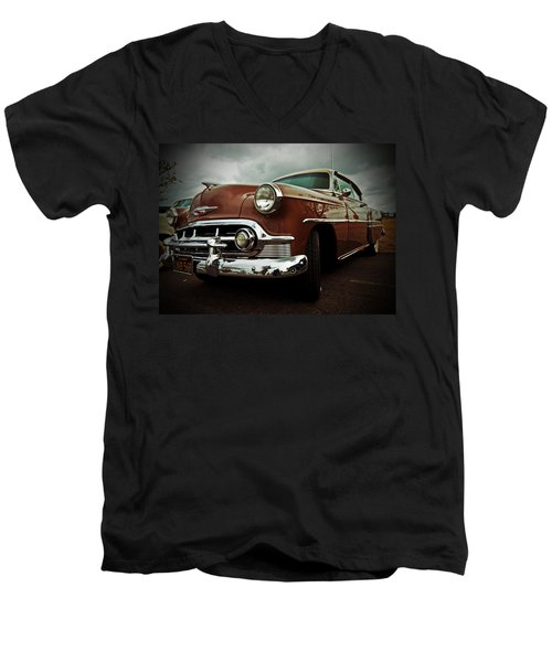 Men's V-Neck T-Shirt featuring the photograph Vintage Chrysler by Gianfranco Weiss