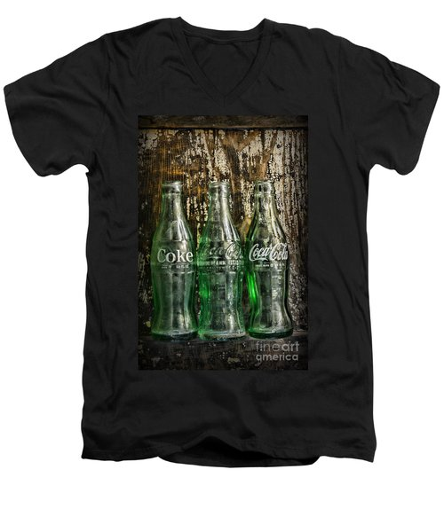 Vintage Coke Bottles Men's V-Neck T-Shirt