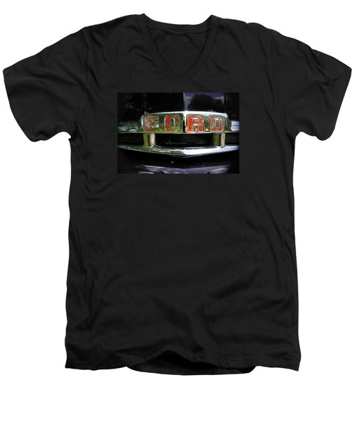 Vintage Ford Men's V-Neck T-Shirt by Laurie Perry