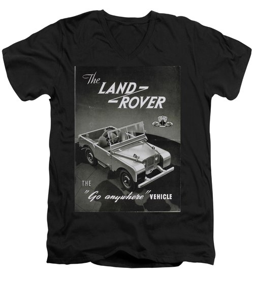 Vintage Land Rover Advert Men's V-Neck T-Shirt