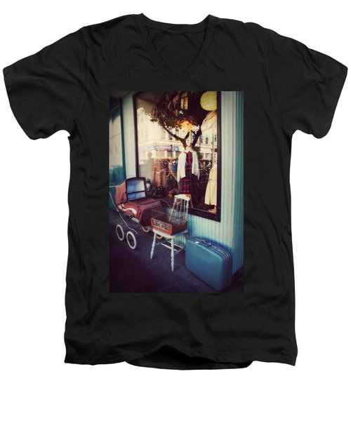 Vintage Memories Men's V-Neck T-Shirt by Melanie Lankford Photography