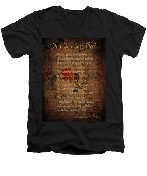 Vintage Poem 4 Men's V-Neck T-Shirt