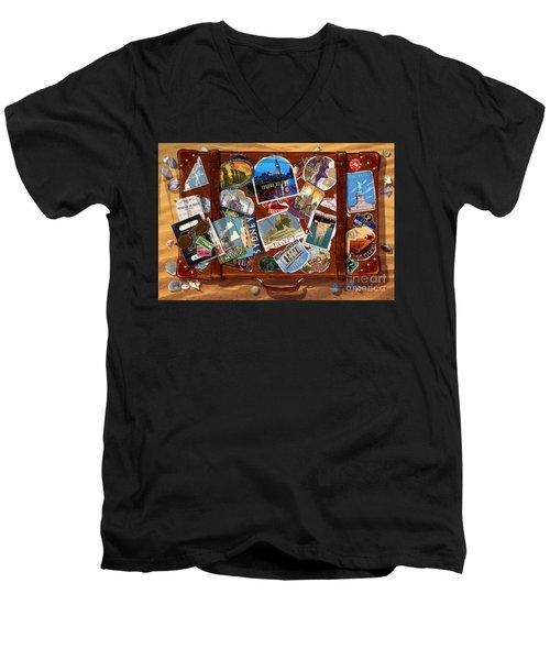 Vintage Travel Case Men's V-Neck T-Shirt