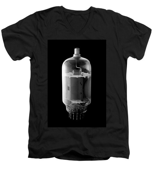 Men's V-Neck T-Shirt featuring the photograph Vintage Vacuum Tube by Jim Hughes