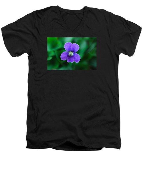 Men's V-Neck T-Shirt featuring the photograph Violet Splendor by Julie Andel
