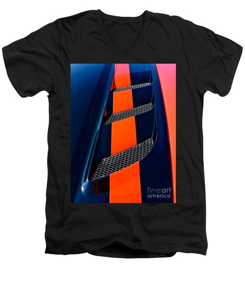 Men's V-Neck T-Shirt featuring the photograph Viper by Linda Bianic