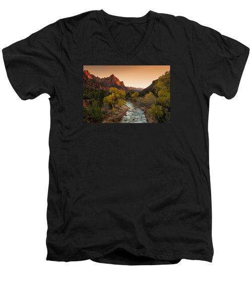 Virgin River Men's V-Neck T-Shirt by Tassanee Angiolillo