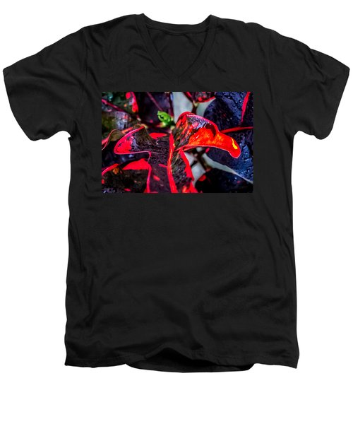 Visions Of Red Men's V-Neck T-Shirt