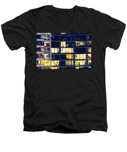 Men's V-Neck T-Shirt featuring the photograph Voyeuristic Pleasure Cdlxxxviii by Amyn Nasser