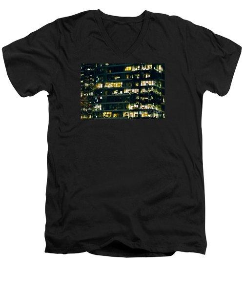 Men's V-Neck T-Shirt featuring the photograph Voyeuristic Work Cclxvii by Amyn Nasser