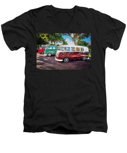 Vw Bus Stop 1964 1961 1968 Vans Trucks Painted Men's V-Neck T-Shirt