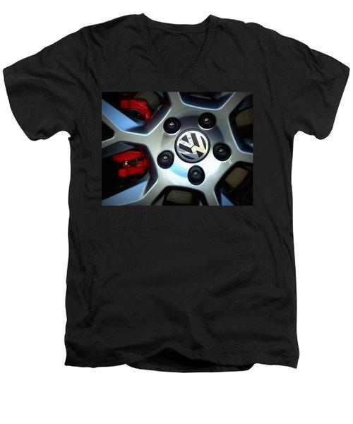 Vw Gti Wheel Men's V-Neck T-Shirt by Joseph Skompski