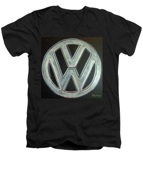Vw Logo Chrome Men's V-Neck T-Shirt