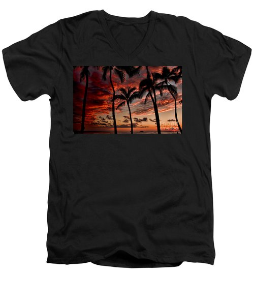 Waikiki Sunset Men's V-Neck T-Shirt