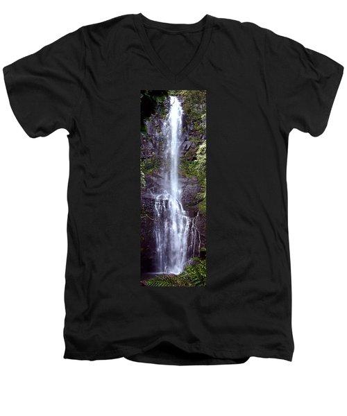 Wailua Falls Maui Hawaii Men's V-Neck T-Shirt