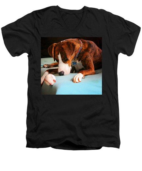 Men's V-Neck T-Shirt featuring the photograph Wait For It      Wait For It by Robert McCubbin