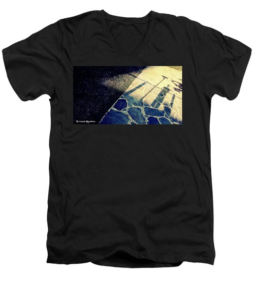 Men's V-Neck T-Shirt featuring the photograph Wait In The Shade by Stwayne Keubrick