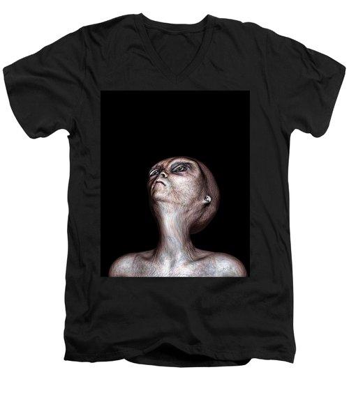 Waiting Men's V-Neck T-Shirt by Bob Orsillo