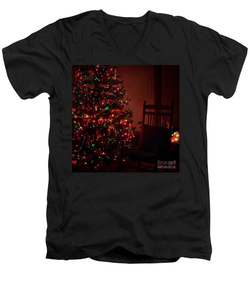Waiting For Christmas - Square Men's V-Neck T-Shirt