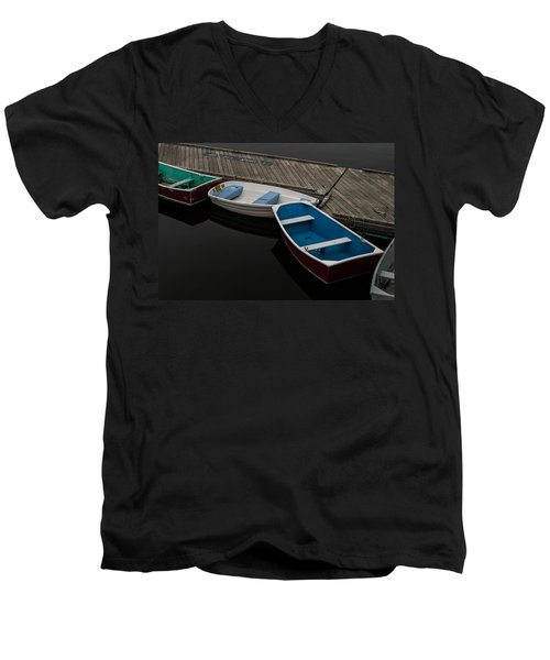 Men's V-Neck T-Shirt featuring the photograph Waiting For Duty by Jeff Folger