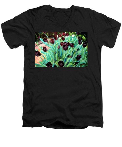 Walk Among The Tulips Men's V-Neck T-Shirt