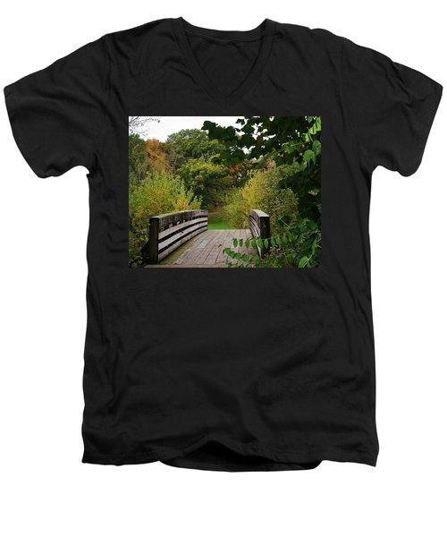 Walking Bridge Men's V-Neck T-Shirt