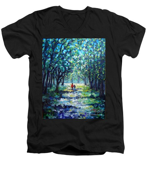 Walking In The Park Men's V-Neck T-Shirt