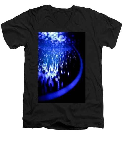 Men's V-Neck T-Shirt featuring the photograph Walking On The Moon by Dazzle Zazz