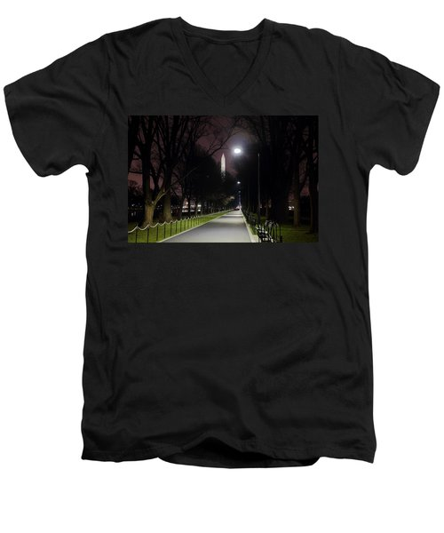 Walking Path Along The Reflecting Pool Men's V-Neck T-Shirt