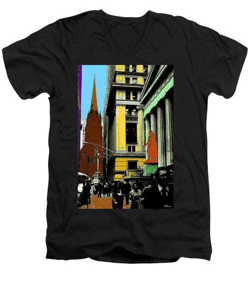 New York Pop Art 99 - Color Illustration Men's V-Neck T-Shirt