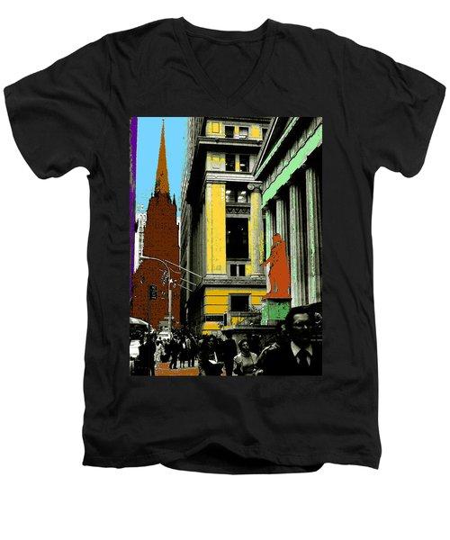 New York Pop Art 99 - Color Illustration Men's V-Neck T-Shirt