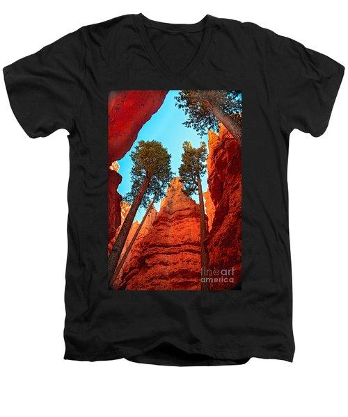 Wall Street Men's V-Neck T-Shirt by Robert Bales