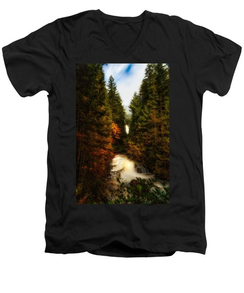 Wallace Fall North Fork Men's V-Neck T-Shirt